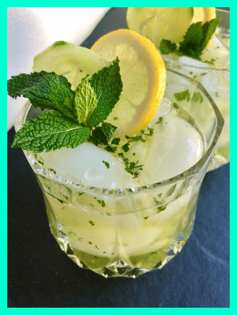 Cucumber Lemonade Mojito by Born Fitness